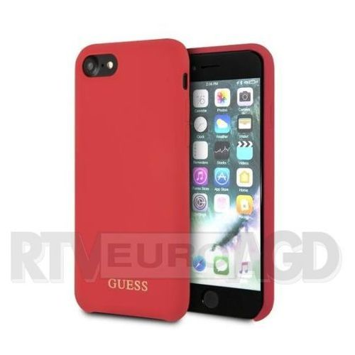 Guess etui hardcase guhci8lsglre iphone 7/8 czerwony silicone