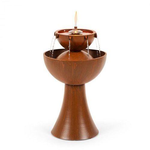 Blumfeldt hadrian, fontanna ogrodowa z lampą olejową, 8w, ocynkowany metal, rdzawy kolor (4060656225710)