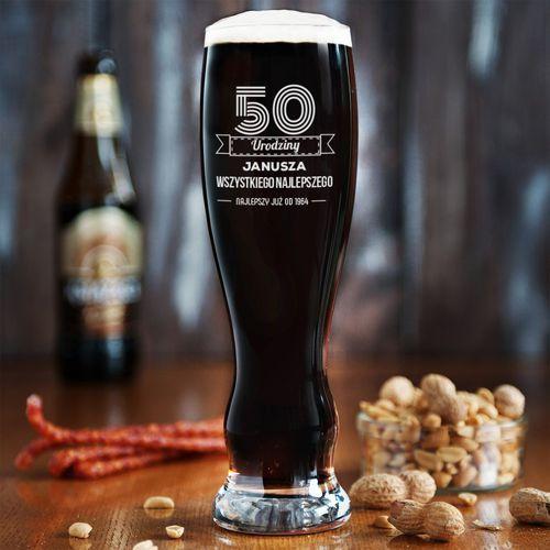 Wszystkiego najlepszego - grawerowana szklanka do piwa - szklanka do piwa marki Mygiftdna