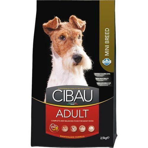 Cibau adult mini 3x2,5kg = 7,5kg + pojemnik półksiężyc 16l / small breed marki Farmina