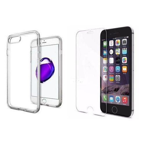 Zestaw | spigen sgp neo hybrid crystal stain silver | obudowa + szkło ochronne perfect glass dla modelu apple iphone 7 plus marki Sgp - spigen / perfect glass