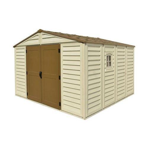 Duży plastikowy domek ogrodowy woodbridge plus 10.5 x 10.5 - transport gratis! marki Duramax