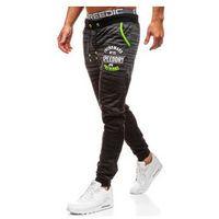 Spodnie męskie dresowe joggery czarne denley kk511 marki J.style