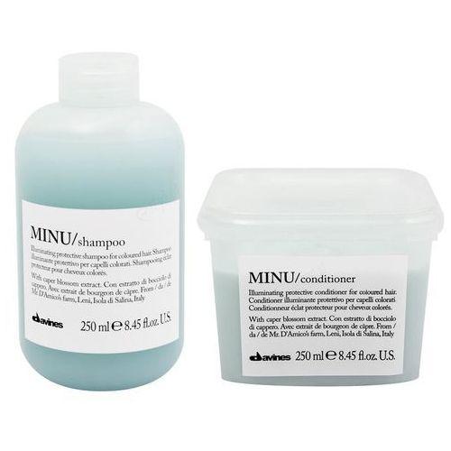 Davines minu | zestaw do włosów farbowanych: szampon 250ml + odżywka 250ml (9753197531803)
