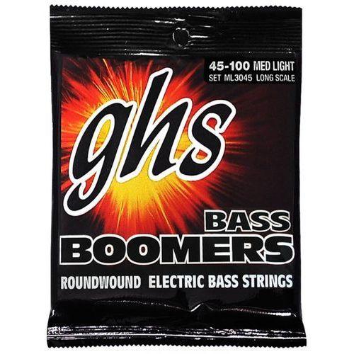 bass boomers struny do gitary basowej 4-str. medium light,.045-.100 marki Ghs