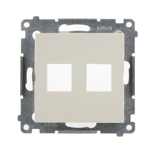 Kontakt-simon Pokrywa gniazd teleinformatycznych 54 dkp2.01/41 na keystone płaska podwójna kremowa (5902787824440)