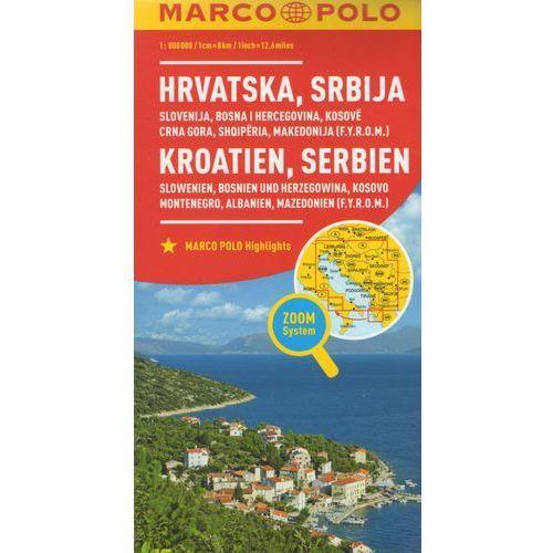 MARCO POLO Karte Länderkarte Kroatien, Serbien, Bosnien und Herzegowina 1:800 000 (9783829738347)