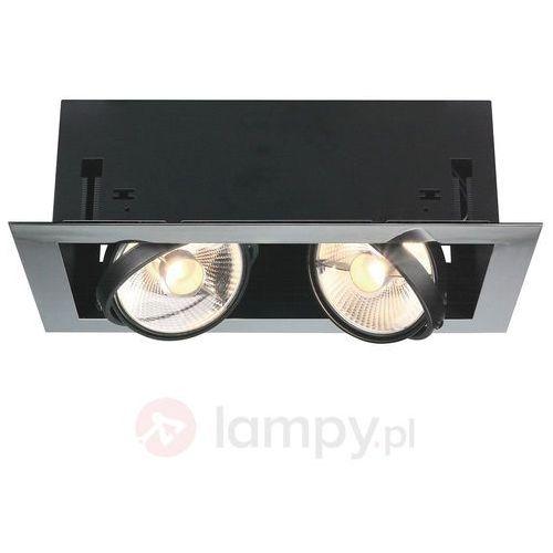 Spotline Plafon oprawa wpuszczana lampa sufitowa downlight aixlight flat double es111 2x75w gu10 chrom 154612