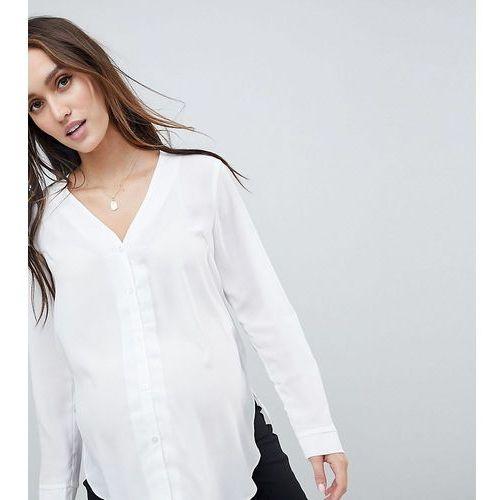Asos maternity Asos design maternity long sleeve v neck blouse - white
