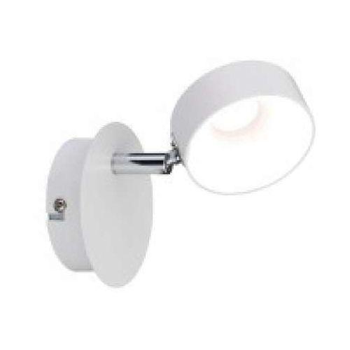 1-lampowy reflektor led funnel 1x6w ściemniany matt biały / chrom, 66732 marki Paulmann