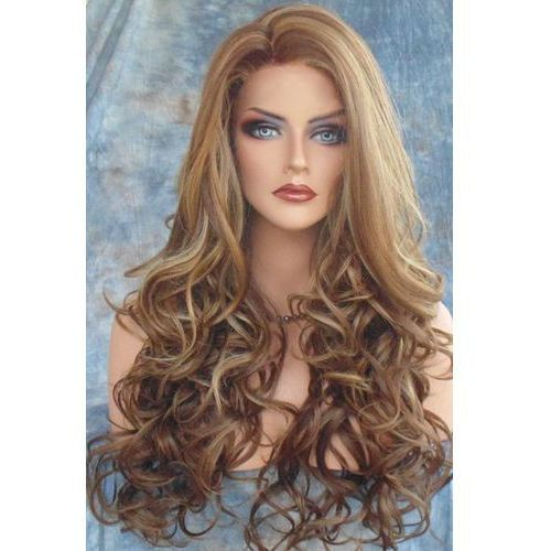 Fluffy curly side parting long capless synthetic wig od producenta Rosegal