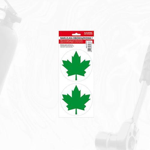 Naklejka zielony listek marki Gorabbit