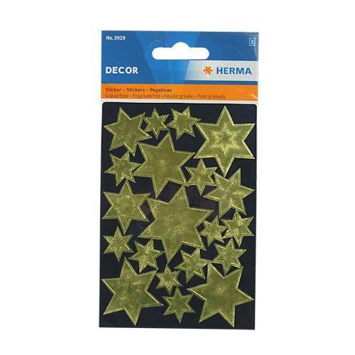 Naklejki  decor 3929 gwiazdy złote wzór x1 marki Herma