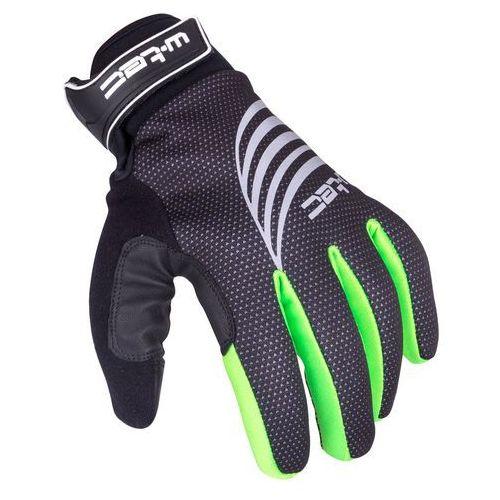 Rękawice sportowe zimowe W-TEC Grutch AMC-1040-17, Czarno-zielony, XXL