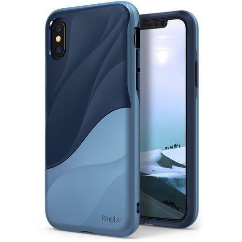 Etui Ringke Wave iPhone X Coastal Blue, kolor niebieski
