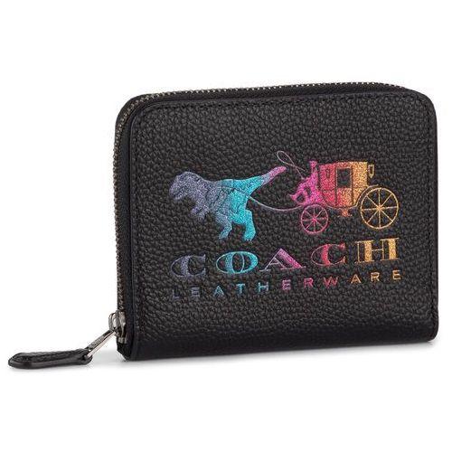 Mały portfel damski - rxy crrg sml zip ard 69813 gm/black multi marki Coach
