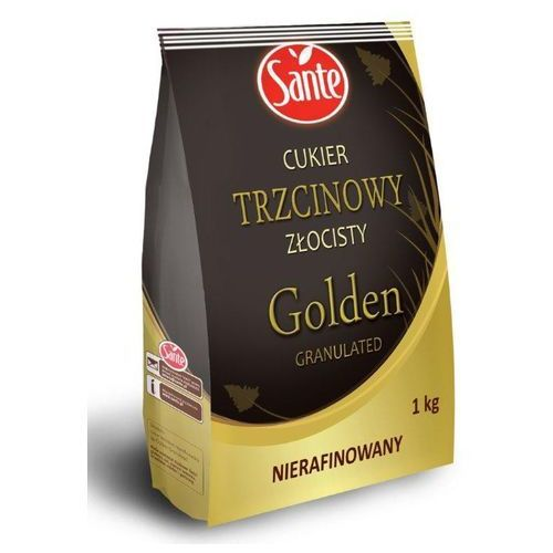Sante Cukier trzcinowy złocisty nierafinowany golden granulated 1 kg (5900617011473)