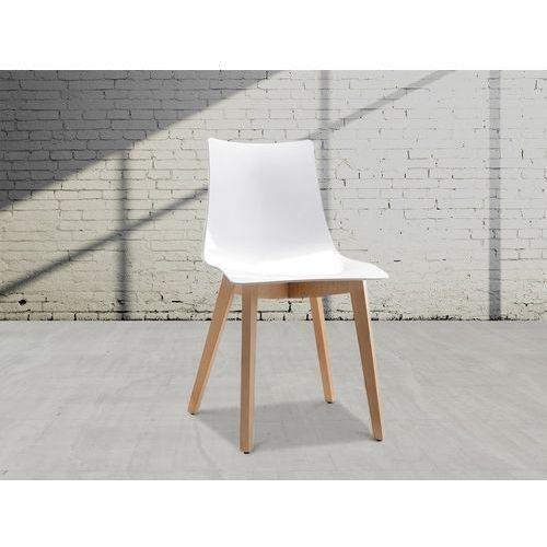 Beliani Krzesło do jadalni białe natural zebra (7081454605754)