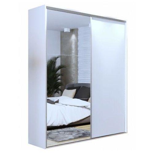 Elior Biała przesuwna szafa z lustrem 200 cm - savona 3x