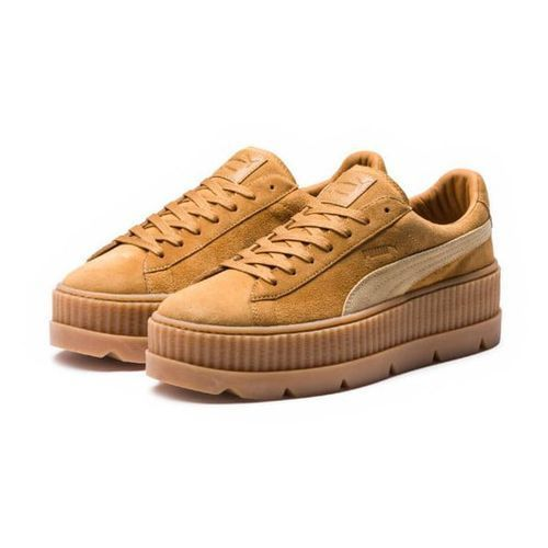 Puma Fenty by rihanna cleated creeper suede tenisówki i trampki golden brown