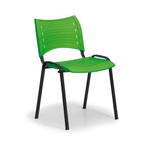 Plastikowe krzesła SMART - czarne nogi