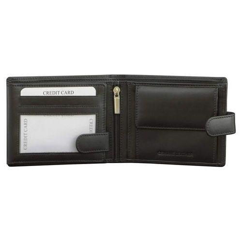 ✅ Skórzany Męski Portfel Ochrona RFID Zapinany Miejsce Zdjęcie Czarny (5902730820048)