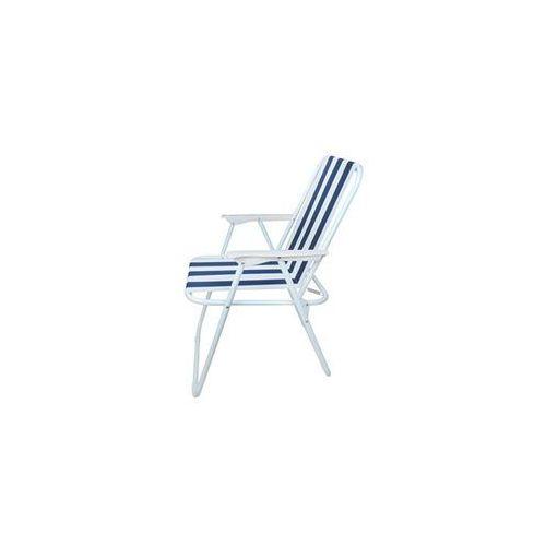 Import Krzesło turystyczne składane. plaża, ogród. granatowe. leżak