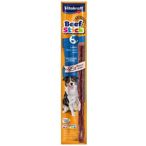 Vitakraft Beef Stick Kabanos dla psa z sercami wołowymi