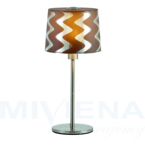 Tiveri lampa stołowa 1 brąz szkło chrom