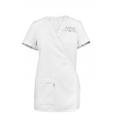 Fartuszek kosmetyczny biały z lamówką APIS rozm.36, 51145