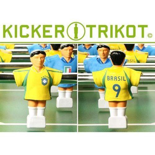 Komplet 11 koszulek reprezentacji państw dla postaci do piłkarzyków - Brazylia