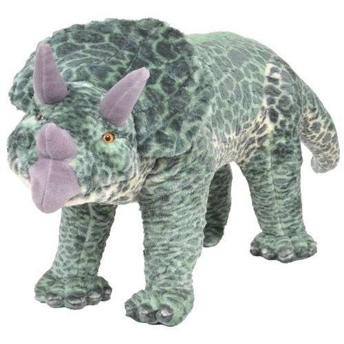 Vidaxl pluszowy triceratops, stojący, zielony, xxl (8718475565871)