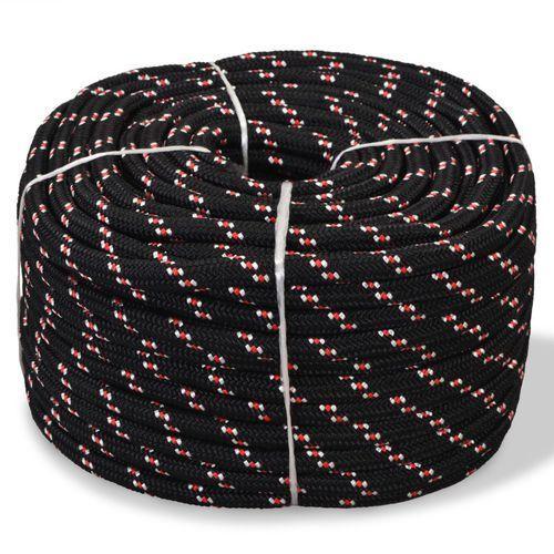 Vidaxl linka żeglarska z polipropylenu, 6 mm, 100 m, czarna (8718475559306)