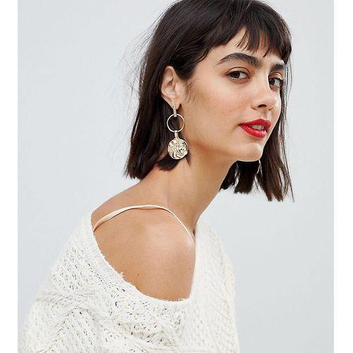inspired gold coin earrings - gold marki Reclaimed vintage