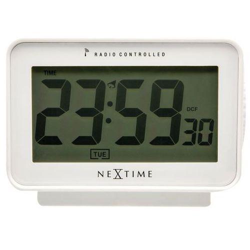 NeXtime - Zegar stojący Easy Alarm Radio Controlled - biały
