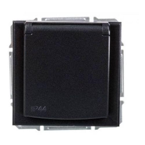 Schneider electric Gniazdo pojedyncze asfora z uziemieniem ip44 antracyt