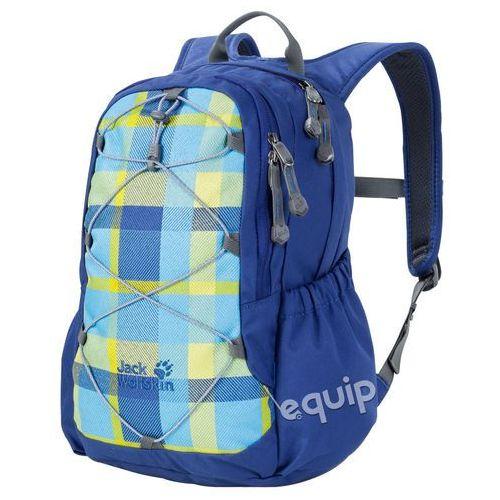 Jack wolfskin Plecak dziecięcy  kids grivla - blue woven check