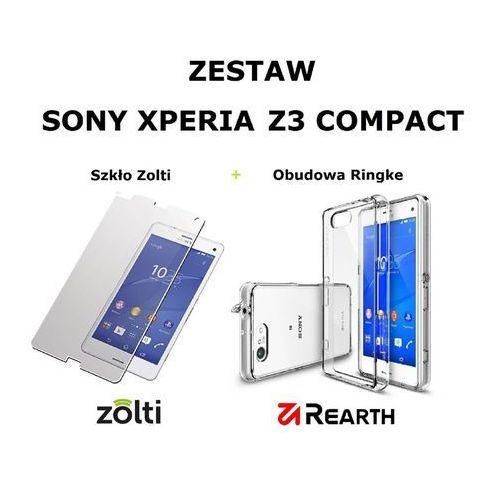 Rearth Zestaw obudowa  ringke fusion crystal + szkło hartowane zolti sony xperia z3 compact