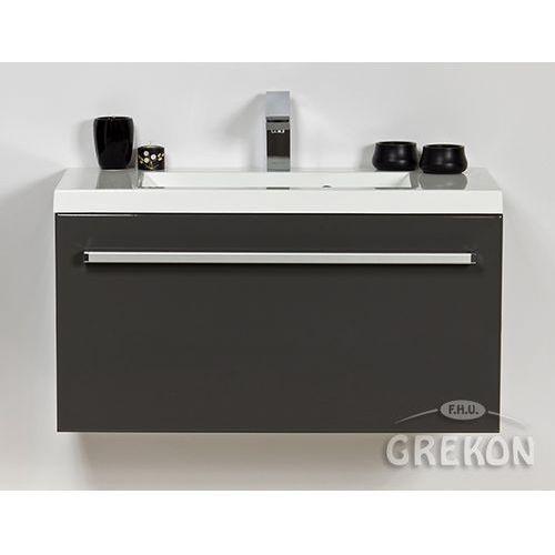 Szafka wisząca z umywalką kolor szary 80/39 seria fokus sz marki Gante