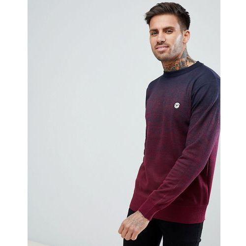 Le breve fleck marl fade out knitted jumper - navy