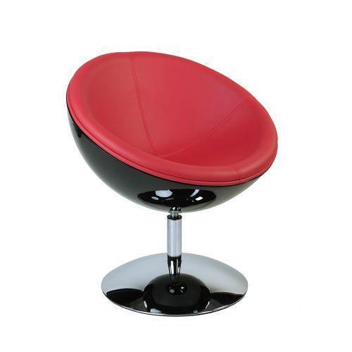 Fotel Mercury K-czarny, S-czerwone, 27275