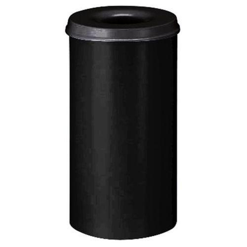 Bezpieczny kosz na papier, poj. 50 l, wys. 625 mm, grafitowo-czarny. korpus z bl marki Vepa bins