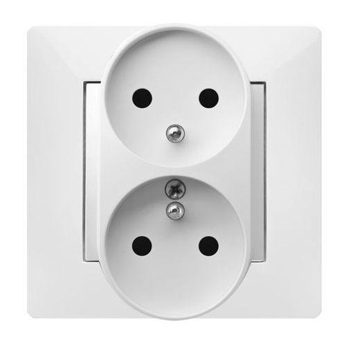 ELEKTROPLAST VOLANTE Gniazdo 2x2P+Z modułowe Biały 2643-00, 2643-00