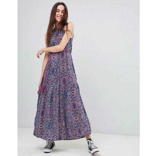 marlin high neck maxi dress with tassle tie - multi, Brave soul, 34-36