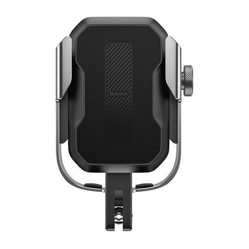 Baseus Armor Motorcycle Holder | Uchwyt do telefonu na rower motor skuter regulowany | srebrny - Srebrny