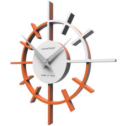 Zegar ścienny Crosshair CalleaDesign pomarańczowy / biały (10-018-63), kolor pomarańczowy
