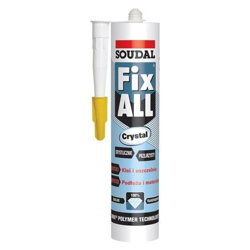 Soudal Klej Uszczelniacz Fix All CRYSTAL 290 ml bezbarwny