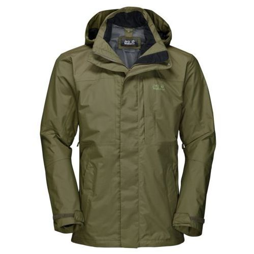 Kurtka brooks range flex jacket men - burnt olive, Jack wolfskin