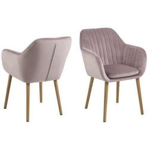 Krzesło Emilia Velvet dusty rose ACTONA, kolor różowy
