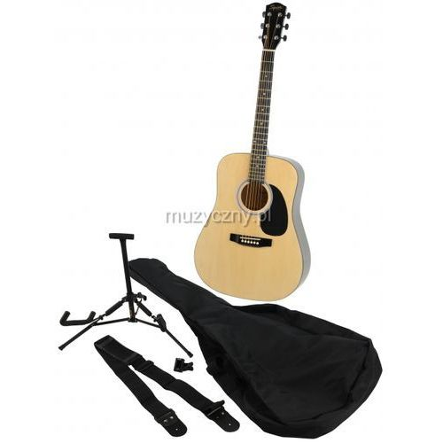 Fender  squier sa105 nt pack gitara akustyczna zestaw
